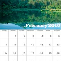 Printable February 2010 Nature Calendar - Printable Monthly Calendars - Free Printable Calendars