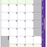 February 2013 Planner Calendar