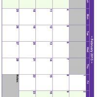 February 2013 Planner Calendar