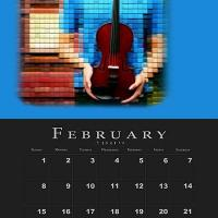 February Music Theme Calendar