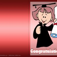 Printable Female Graduate - Printable Graduation Cards - Free Printable Cards