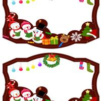 Printable Festive Holiday Frame - Printable Scrapbook - Free Printable Crafts