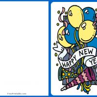 Printable Festive New Year Card - Printable Greeting Cards - Free Printable Cards