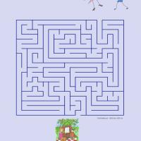 Printable Find The Way To The Picnic - Printable Mazes - Free Printable Games