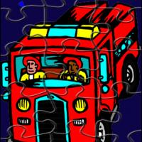 Printable Fire Engine Jigsaw Puzzle - Printable Puzzles - Free Printable Games