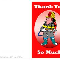 Printable Firefighter Thank You Card - Printable Thank You Cards - Free Printable Cards