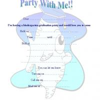 Fish Kindergarten Graduation Party Invite
