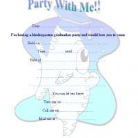 Fish Kindergarten Graduation Party Invite