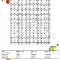 Printable Fish Word Search - Printable Word Search - Free Printable Games