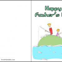 Printable Fishing with Dad - Printable Fathers Day Cards - Free Printable Cards