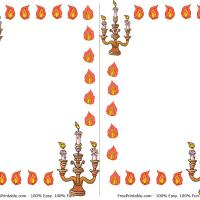 Printable Flame and Menorah Borders - Printable Stationary - Free Printable Activities