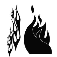 Flame Stencil