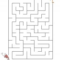 Printable Flamingo Catching Shrimp - Printable Mazes - Free Printable Games