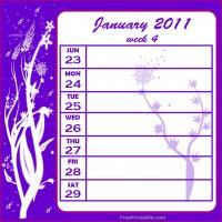 Floral 2011 Week 4 Calendar