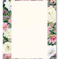 Floral Accent Bordered Blank Card Invitation