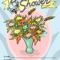 Floral Bridal Shower Party Invitation