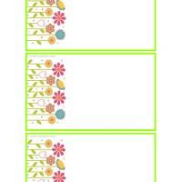 Printable Floral Contact Cards - Printable Name Tags - Misc Printables