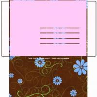 Printable Floral Envelope - Printable Card Maker - Free Printable Cards