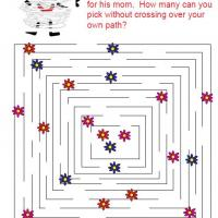 Printable Flower Maze - Printable Mazes - Free Printable Games