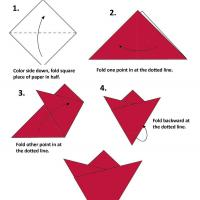 Printable Flower Origami - Paper Crafts - Free Printable Crafts