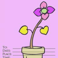Flower Pot Invitation