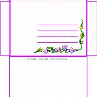 Printable Flower Theme Envelope - Printable Card Maker - Free Printable Cards