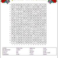Flowering Plants Word Search