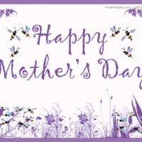 Printable Flowers And Bees - Printable Mothers Day Cards - Free Printable Cards