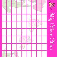 Printable Flowers and Butterflies Chore Chart - Printable Chore Charts - Free Printable Activities