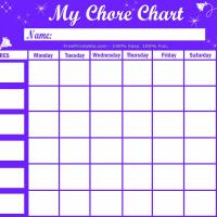 Printable Flowers and Stars Chore Chart - Printable Chore Charts - Free Printable Activities