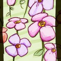 Flowers Drawing Bookmark