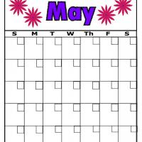 Flowers For May Blank Calendar
