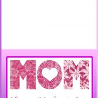 Printable Flowers for Mom Mother's Day Card - Printable Mothers Day Cards - Free Printable Cards