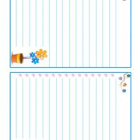 Printable Flowers in a Pot Stationary - Printable Stationary - Free Printable Activities