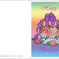 Printable Flowers In A Vase Postcard - Printable Birthday Cards - Free Printable Cards