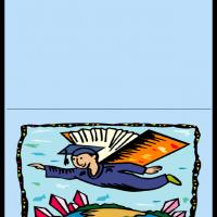 Printable Flying With Books As Wings - Printable Graduation Cards - Free Printable Cards