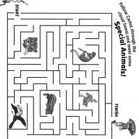 Printable Follow Carlos Through The Maze Forest - Printable Mazes - Free Printable Games