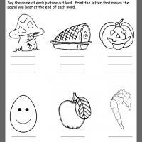 math worksheet : food ending consonant review : Kindergarten Nutrition Worksheets