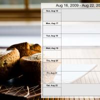 Printable Food Themed Weekly Planner Aug 16 to Aug 22 2009 - Printable Weekly Calendar - Free Printable Calendars