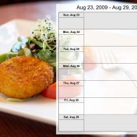 Printable Food Themed Weekly Planner Aug 23 to Aug 29 2009 - Printable Weekly Calendar - Free Printable Calendars