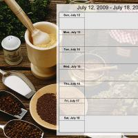 Food Themed Weekly Planner July 12 to July 18 2009