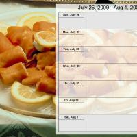 Printable Food Themed Weekly Planner July 26 to Aug 1 2009 - Printable Weekly Calendar - Free Printable Calendars