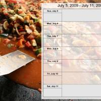 Food Themed Weekly Planner July 5 to July 11 2009