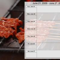 Food Themed Weekly Planner Jun 21 to Jun 27 2009
