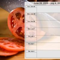 Printable Food Themed Weekly Planner Jun 28 to July 4 2009 - Printable Weekly Calendar - Free Printable Calendars