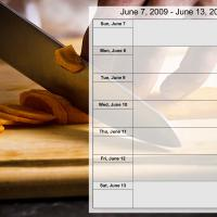 Food Themed Weekly Planner Jun 7 to Jun 13 2009