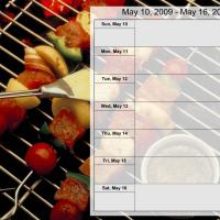 Printable Food Themed Weekly Planner May 10-16 2009 - Printable Weekly Calendar - Free Printable Calendars