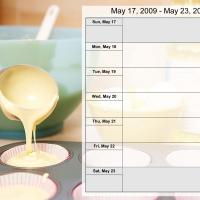 Printable Food Themed Weekly Planner May 17-23 2009 - Printable Weekly Calendar - Free Printable Calendars