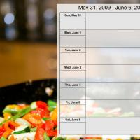 Printable Food Themed Weekly Planner May 31 to Jun 6 2009 - Printable Weekly Calendar - Free Printable Calendars