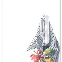 Fork and Knife Blank Card Invitation